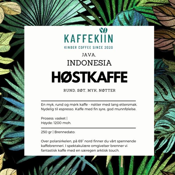 Høstkaffe Indonesia washed Arabica Java Blawan Estate A/WP 1X